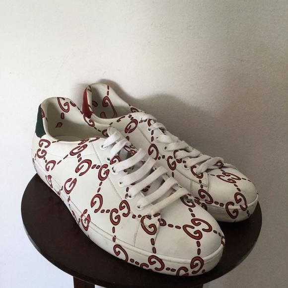 Gucci Shoes | Gucci Mens Ace Gg Print